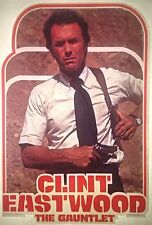 Vintage 1978 The Gauntlet Clint Eastwood Iron-On Transfer Movie RARE!