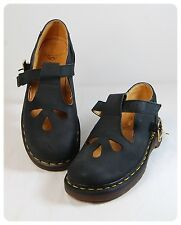 DR MARTENS VINTAGE MARY JANE T-STRAP LEATHER SHOES WOMEN SIZE 5  UK 3 -England-