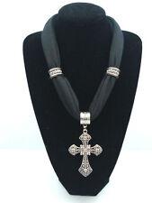 NEW! fashion Women's short Cross Pendants Jewelry Necklace Scarf