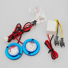 Car SUV 2 LED Strobe Bulb Light Emergency Warning Flash 12V with Controller Blue