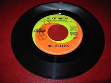 """BEATLES i'm happy just to dance / i'll cry instead ( rock ) 7"""" / 45 capitol 5234"""
