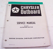 Service manual for Chrysler outboard motor 55 HP from 1980