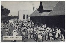 WATERLOO IOWA Servicemen's Canteen MILITARY PC Postcard WWII US Army DEPOT