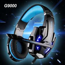 G9000 USB MICROFONO 7.1 Surround Cuffie Gaming Cuffie Controllo Del Volume Blu