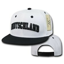Germany German Soccer Flat Bill Snapback Deutschland Baseball World Cup Hat Cap