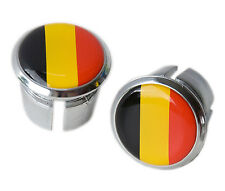 Belgium Flag Bicycle Handlebar Chrome Plastic Bar End Plugs, Bungs L'Eroica