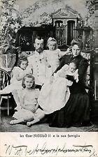 RUSSIAN ROYALTY - TSAR NICHOLAS & FAMILY ORIGINAL ca 1900s POSTCARD