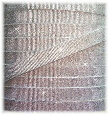 3/8 PRINCESS SILVER SHIMMER SHIMMY SPARKLE GROSGRAIN RIBBON 4 HAIRBOW BOW 5YD
