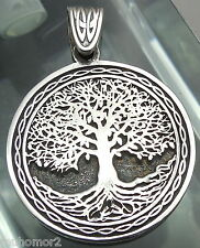 Pendant Celtic Tree of Life Amulet Jewelry 925 sterling silver (p502) Bitcoin