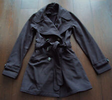 Lululemon Studio Softshell Belted TRENCH COAT Jacket RARE HTF Black sz 6 or 8