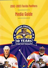 2002/03 Florida Panthers NHL Hockey Media GUIDE