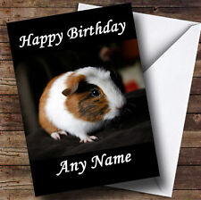 Guinea Pig Personalised Birthday Greetings Card