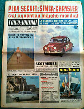 L'AUTO-JOURNAL n°317 du 02/1963; Simca-Chrysler/ Monte Carlo; Carlsson/ BMW 1500