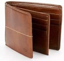 Dockers® Extra-Capacity Genuine Leather Slimfold Wallet Cognac Brand New In Box