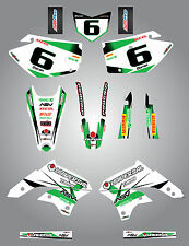 Full  Custom Graphic  Kit - STORM - KAWASAKI KLX 450 - 2008 / 2015 sticker kit