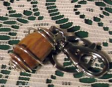 Portachiave con LEGNO FOSSILE cristalloterapia zen pietre minerali chakra argent