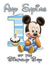 Personalized Birthday T Shirt Any age any name Baby 1st Mickey Mouse Boys mom