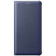New Official Samsung Galaxy A5 2016 A510 Blue / Black Flip Wallet Cover / Case