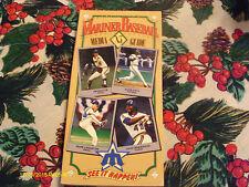 Seattle Mariners 1985 Media Guide Chuck Cottier Harold Reynolds Mark Langston