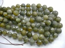 clearance--18.5'' Labradorite graduate round faceted 8mm to 16mm gemstone beads