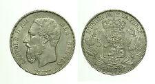 pcc1674) ESTERE - BELGIO - Leopoldo II (1865-1909) - 5 Franchi 1872