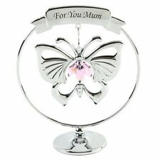 Mothers Day Gift Ideas Presents Gifts for Mum Pink Butterfly Swarvoski Crystal