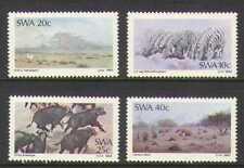 SWA 1983 Paintings/Zebra/Buffalo/Views 4v set (n19972)