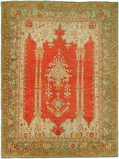 Antique Unbelievable Turkish Oushak Ushak Rug Size 12'10''x17'1''