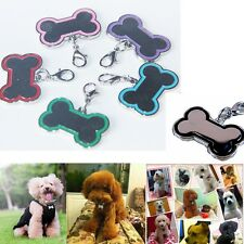 Personalized Customised Pet ID Collar Tags Dog Cat Name Charming Stainless Steel