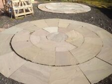 SANDSTONE 3 RING CIRCLE APPROX 3.3M CALIBRATED GREY GREEN PATIO PAVING  (67216)