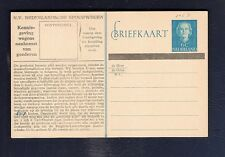 33 Netherlands Railway Postal Stationery Card from collection  En Face 6c