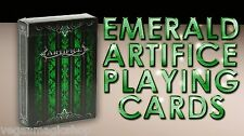 Artifice Emerald v2 Deck Playing Cards Poker Size USPCC Custom Limited Sealed