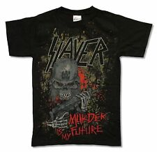 SLAYER - MURDER IS MY FUTURE BLACK T-SHIRT NEW OFFICIAL BAND MUSIC ADULT SMALL S