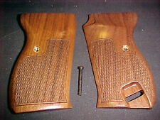 Walther P38 P1 Natural American Walnut Checkered Pistol Gun Grips Beautiful NEW!