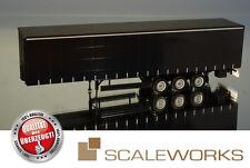 herpa / Scale Works 903108 Gardinenplanen Auflieger Krone Curtainsider *schwarz*