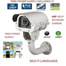 4 MP POE  Outdoor VariFocal 2.8-12MM IP HD IR Security Camera CCTV 150ft IR usa