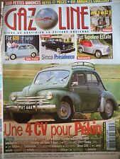 GAZOLINE n°136 - RENAULT 4CV FIAT 600 SIMCA Présidence FIAT Topolino