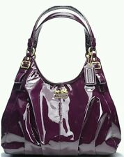 Coach Madison Patent leather Maggie PURPLE Hobo Purse 18760 shoulder satchel