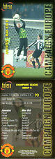 FUTERA 1998 JUVENTUS 1 MANCHESTER UNITED 0 CAMPAIGN EUROPE CARD NUMBER 90