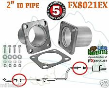 "2"" ID Universal QuickFix Exhaust Rectangle Flange Repair Pipe Kit FX8021EX"