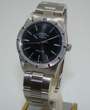 ROLEX STAINLESS STEEL MENS AUTOMATIC AIR KING WATCH BLACK DIAL 14010M C. 2001