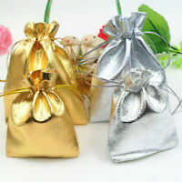 25/50/100Pcs Organza Drawstring Wedding Party Favor Candy Gift Bag Pouch 12X9CM