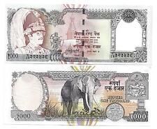 Népal 1000 1.000 roupies 2000 éléphant sign 13 unc p 44