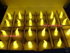 48x Battery LED Amber Tealight Candle Wedding Floral Party Decoration Tea Light