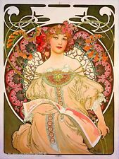 Beautiful Woman #5 Vintage French Nouveau France Poster Mucha Art Advertisement