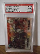 1994 Sportflics Head to Head #HH4 - DEION SANDERS & JERRY RICE - PSA 9 Mint