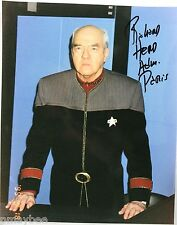 "Richard Herd as Admiral Owen Paris AUTOGRAPHED 8""X10"" Photo in STAR TREK VOYAGER"