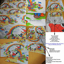 Disney VIINTAGE /drap  Flat sheet + fitted sheet + pillowcase Mickey and friends