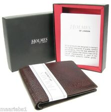 MENS BROWN FULL GRAIN REAL LEATHER WALLET CREDIT CARD HOLDER PURSE UK NEW BR205