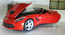 1:24 Scale Chevrolet Corvette Stingray Convertible C7 2014 Red Maisto Model Car